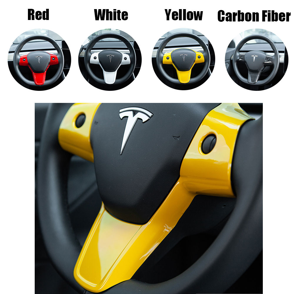 Steering Wheel Sticker Protection Patch Cover For Tesla Model 3 18-20 4Colors