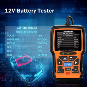 Image 2 - FOXWELL NT301 Plus OBD2 Scanner 12V Batterie Tester Überprüfen Batterien Drucken Motor Lesen Code EOBD OBDII Automotive Auto Diagnose