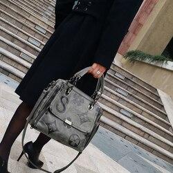 Роскошная женская сумка большая-вместительная сумка через плечо модная дизайнерская натуральная кожа сумка-мессенджер на плечо бренд Луи ...