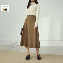 Женская офисная юбка fansilзанен элегантная длинная Плиссированная