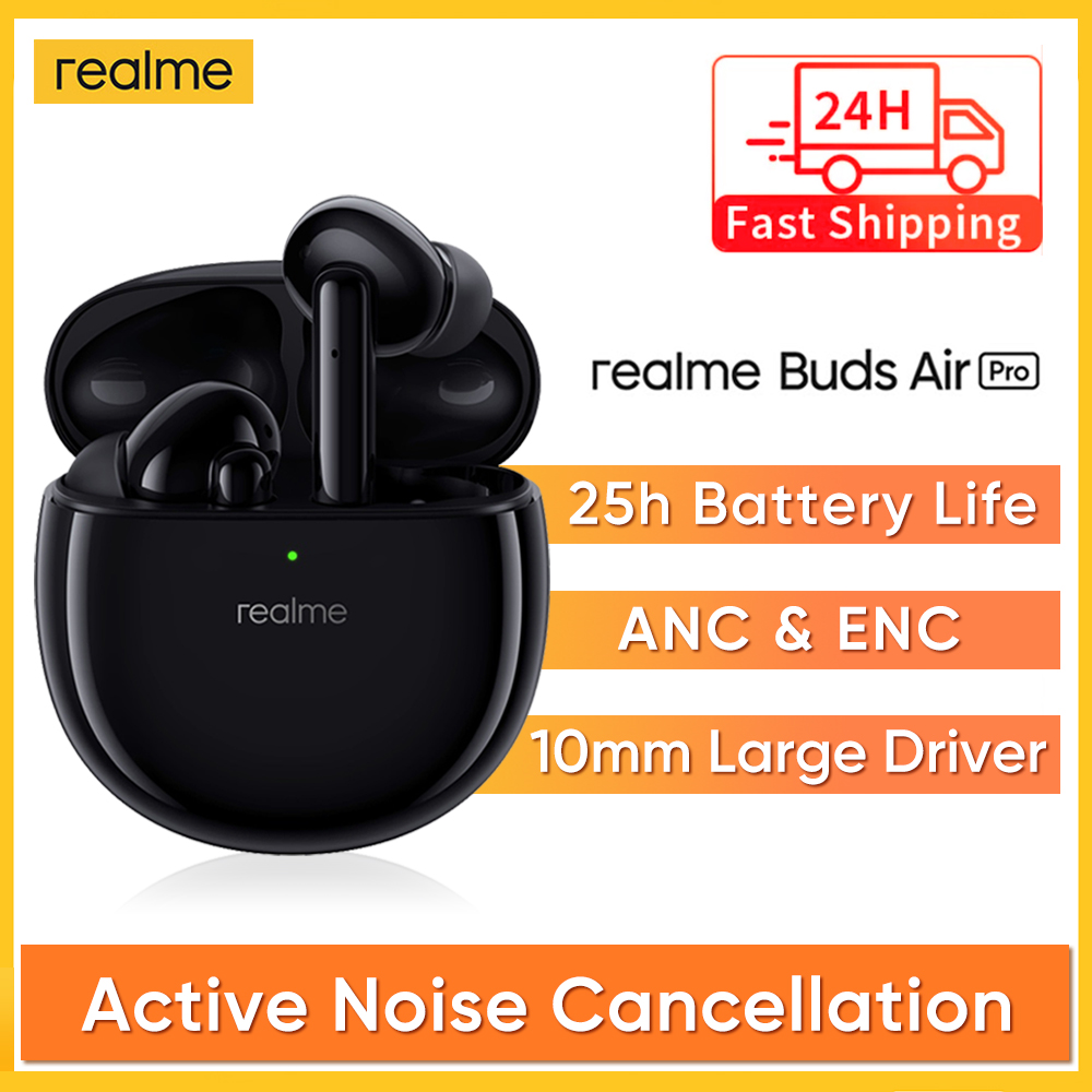 realme Buds Air Pro ANC ENC Active Noise Cancellation Bluetooth 5 0 headset 10mm Bass Boost