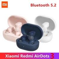 Xiaomi-auriculares inalámbricos Redmi AirDots 3/2/2S, por Bluetooth, compatibles con 2021 de carga, intrauditivos, estéreo, graves, novedad de 5,2