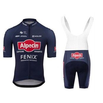 Alpecin-kit de camisetas de Ciclismo Fenix, conjunto de ropa de verano para...