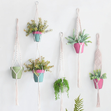 Новое поступление льняные лотки для цветочных горшков ручной работы льняная веревка для растений