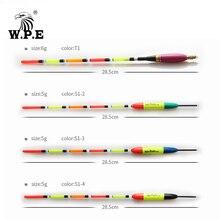 W.P.E Brand Fishing Float 5pcs/set Barguzinsky Fir Floats Size 5g/6g 28.5cm Bobber Vertical Buoy Tackle