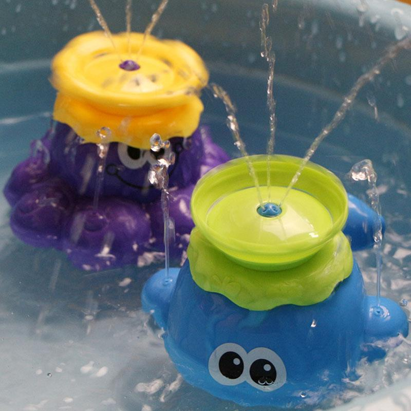 Bath Toy Spray Water Octopus Toys Floating Bathtub Shower Pool Bathroom Toy Water Pump Electronic Sprayer For Baby Toddler