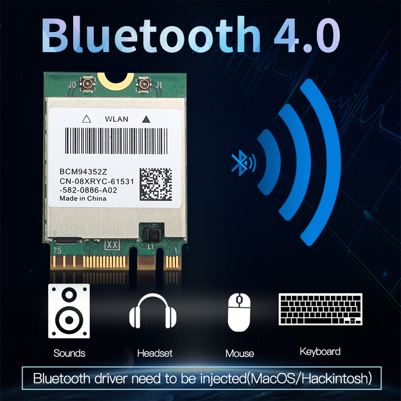 cheapest Dual band Wireless Hackintosh BCM94352Z BCM94360NG WIFI Card NGFF M 2 1200Mbps Bluetooth4 0 NGFF 802 11ac Wlan Adapter DW1560
