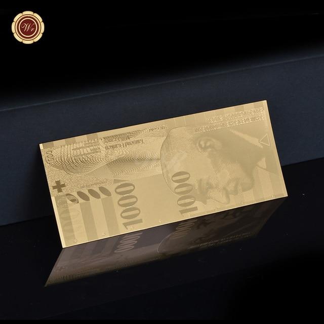 Wr 6 개/몫 골드 호 일 스위스 지폐 프레임 실버 가짜 돈 지폐 지폐 컬렉션 선물 인증서 dropshipping