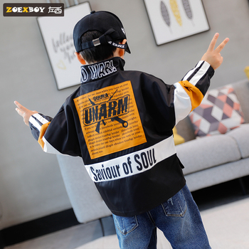 New children's coat jacket casual section wild middle-aged children's spring and autumn foreign children's clothing children's фото