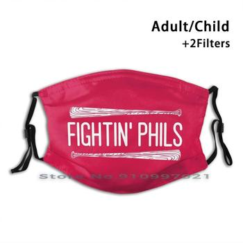 Fightin Phils-Red Washable Reusable Trendy Mouth Face Mask With Filters For Child Adult Harper Phillies Phila Philadelphia image