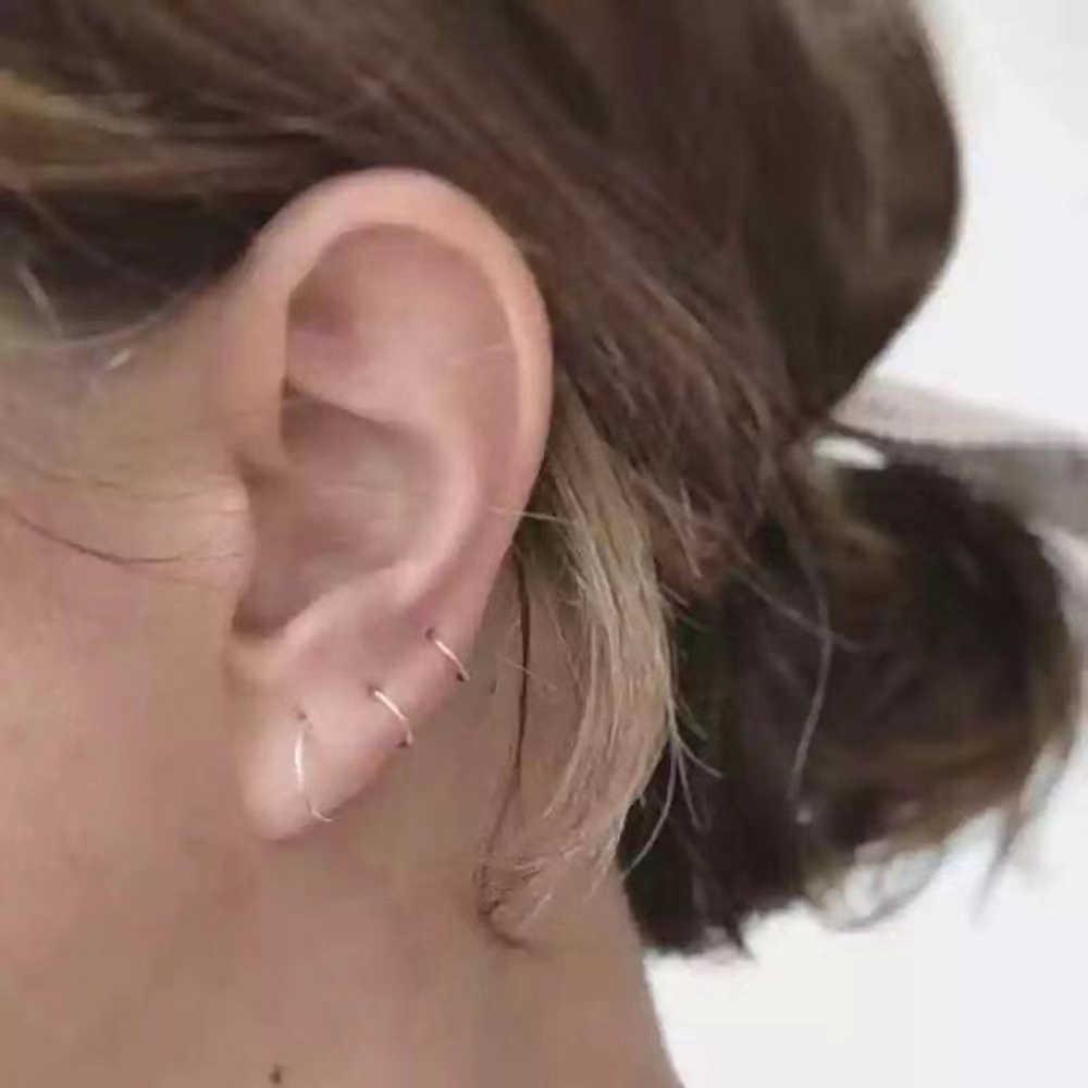 נירוסטה חלקה קטע טבעות האף חישוקי אוזן פירסינג Tragus האף טבעות אוזן Cartiliage Tragus סקסי גוף תכשיטים