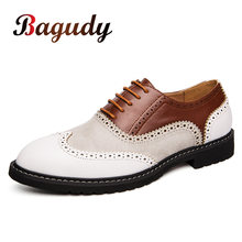 New Arrival Retro Brogue Leather Shoes Classic Business Formal Shoes Wedding Party Pointed Leather Shoes Men Oxford Shoe Size 46(China)
