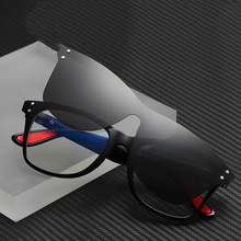 Polarized Sunglasses Clip-on Vintage Eyeglass Frames Driving Square UV Classic Non-prescription Glasses Frame
