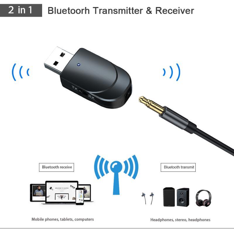 USB Bluetooth 5.0 Receiver Transmitter Audio Adapter For TV//PC Headphone Speaker