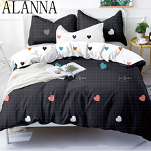 Solid-Bedding-Sets Alanna-X-Series Flower 3-4-Printed Lovely-Pattern High-Quality Home