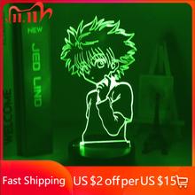3d lampka nocna Anime Hunter X Hunter dla dzieci dziecko dekoracja sypialni Nightlight Dropshipping Manga prezent Hunter X Hunter lampka nocna tanie tanio MUQGEW Night Light cartoon CN (pochodzenie) Żarówki led Touch 110 v 220 v Suche baterii HOLIDAY 0-5 w