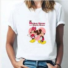 New Minnie Mouse T Shirt Women Kawaii Top Cartoon Graphic Tees Funny Harajuku Disney T-shirt Unisex Fashion Tshirt Female