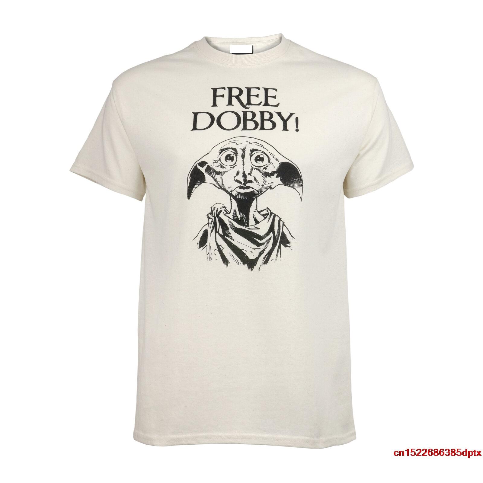 Free Dobby Men's Boyfriend Fit T-Shirt Merchandise Harry Man's T-shirt