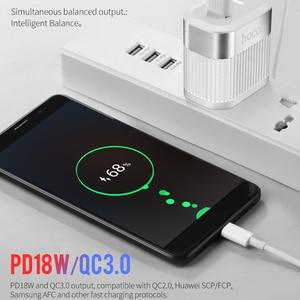 Image 2 - HOCO PD QC3.0 USB Schnelle Telefon Ladegerät 18W Quick Charge 3,0 EU UNS Stecker Wand USB Ladegerät Adapter Volle vereinbarung für iPhone Samsung