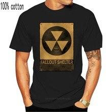 T-shirt 4 uomo Fallout riparo Tshirt uomo radioattivo stampa simil top e magliette Punk 2019 maglietta nera Camisa in cotone vecchio bustato