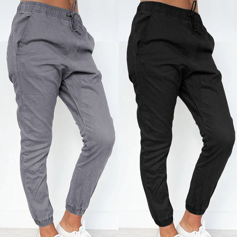 2020 Fashion Women Harem Pants ZANZEA Ladies Casual Solid Loose Pockets Long Trousers Office Work Bottoms Streetwear Sweatpants