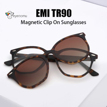 Magnetic Clip On Polarized Sunglasses TR90 Myopia Glasses Men Women Optical Frame Fashion Eyeglasses Indoor Outdoor Gafas De Sol