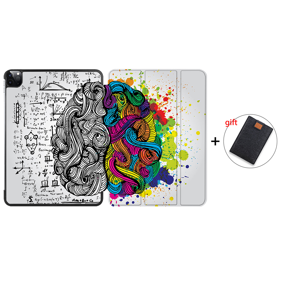 IP12 Orange MTT Case For iPad Pro 12 9 inch 2020 Release Model A2229 A2233 Magnetic PU Leather