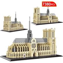 City Famous Architecture Potala Palace Diamond Mini Blocks Notre Dame De Paris Model Building Bricks Educational Toys for Kids