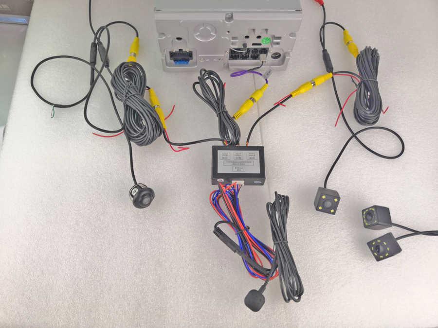 Đa Năng Tự Động Bãi Đậu Xe Video Chuyển Đổi Tín Hiệu. Mặt Trước Sau Và Phía Sau Camera Video Hệ Thống Điều Khiển Bằng Công Tắc Tay