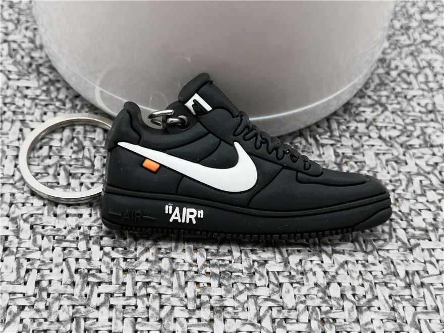 Nueva moda Mini silicona lindos zapatos de aire llavero mujer llavero regalos zapatillas llavero accesorios llavero