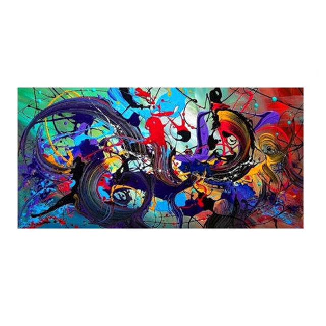 Modern Colorful Abstract Canvas Print Art Oil Painting Wall Stickers Art