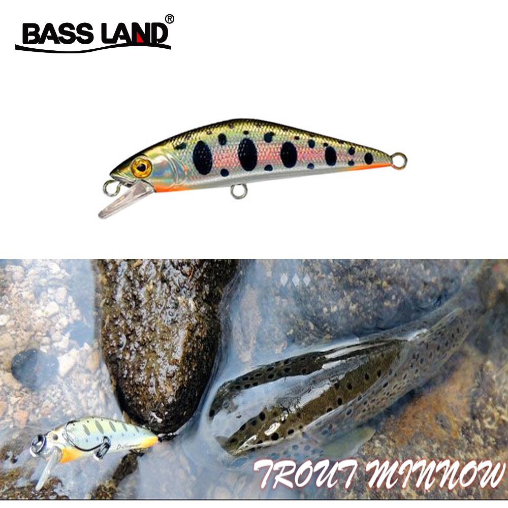 Trout Minnow Lure 63mm 5.3g Isca Artificial Wobblers Sea Fishing Hard Bait Bionic Crankbait Plasic For Pike Bass Fishing Tackle