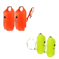 2 Pieces High Visibility Swimming Inflatable Dry Bag Float 2 Colors Waterproof Dry Sack Float Swim Safety Float