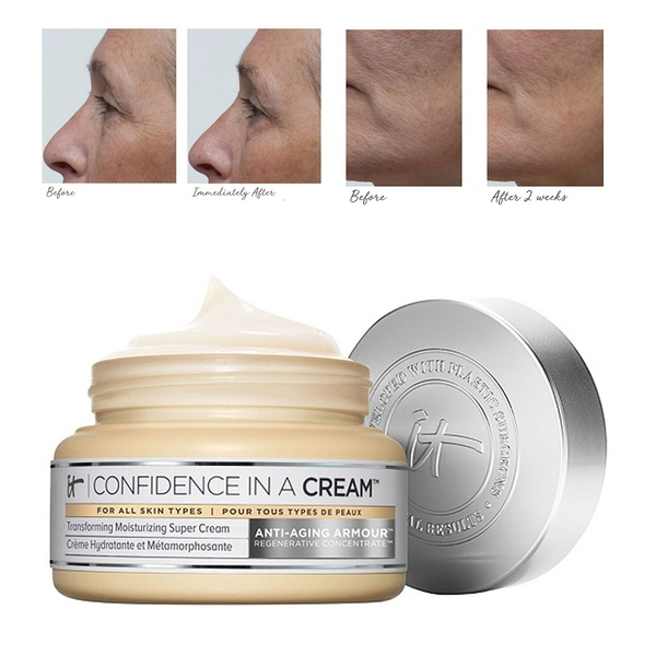 Confidence In A Cream Moisturizer 60 ML/ 2 Oz Hydrating Transforming Moisturizing Super Face Cream Full Size IT Cosmetics