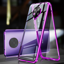 Magnetic Case For Xiaomi 10 Pro Coque CC9 Pro Note 10 Glass Cover Metal Bumper Redmi K30 Pro Note 8 Case Camera Lens Protector(China)