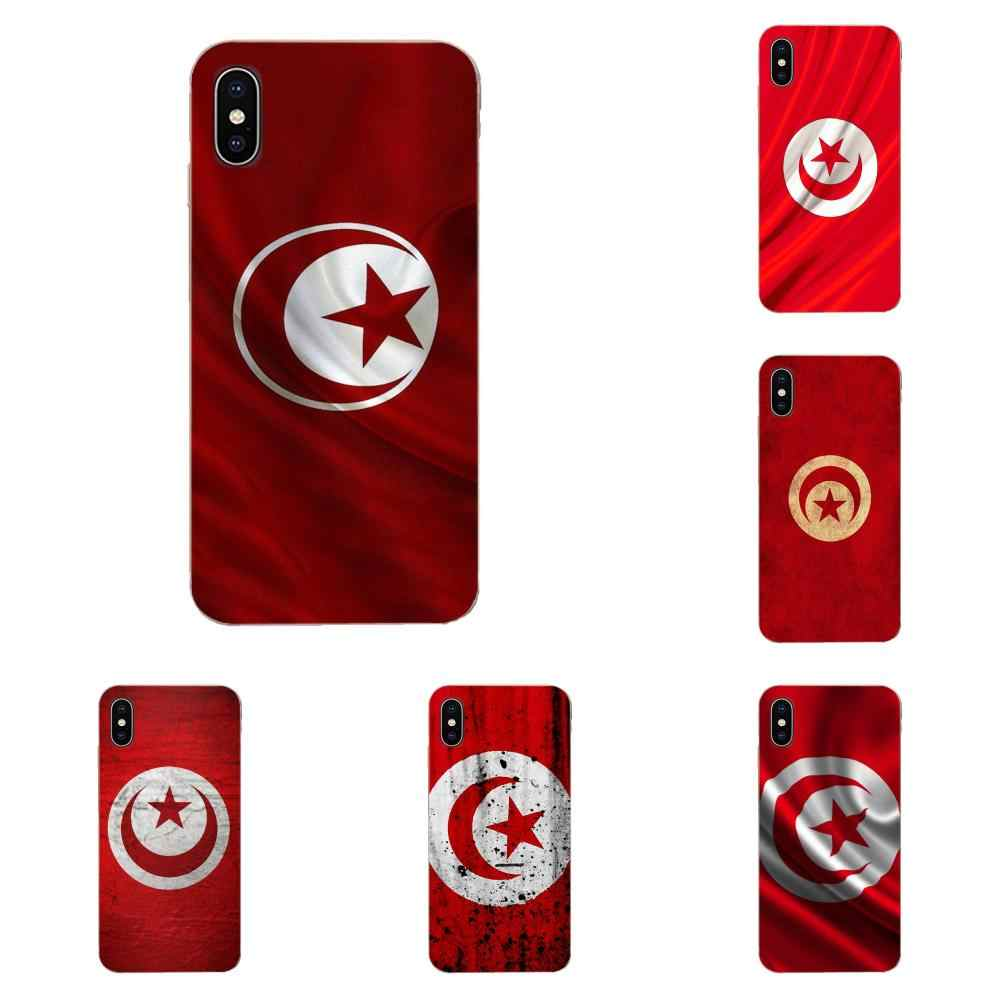 For Apple iPhone 4 4S 5 5C 5S SE 6 6S 7 8 11 Plus Pro X XS Max XR Silicone Skin Case Flag Of Tunisia
