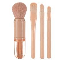 4 em 1 viagem maquiagem cosméticos ajustável sombra de olho gloss pincéis convenientes ferramentas com lady portátil conjunto beleza fundação