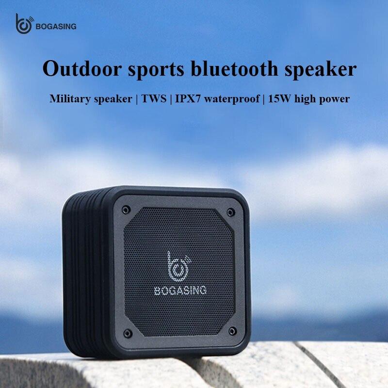 Portable Bluetooth Speaker Waterproof Wireless HD call Speakers Outdoor Cycling Sports Hangable Subwoofer Military Loudspeake