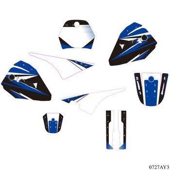 Para Yamaha PW80 PW 80 gráficos de fondo de pegatinas de todos los años, PIT bike Dirt Bike moto Pegatina