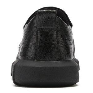 Image 4 - חדש עסקי נעליים יומיומיות קל משקל גברים של נעלי החלקה הלם קליטה נוח גברים לשפשף עור
