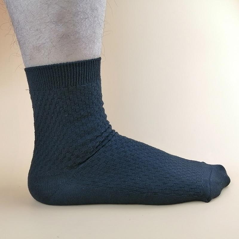 3 Pairs New Solid Men's Socks Business Cotton Socks Breathable Casual Mens Gift Wholesale Custom Dropshipping Mens Dress Socks