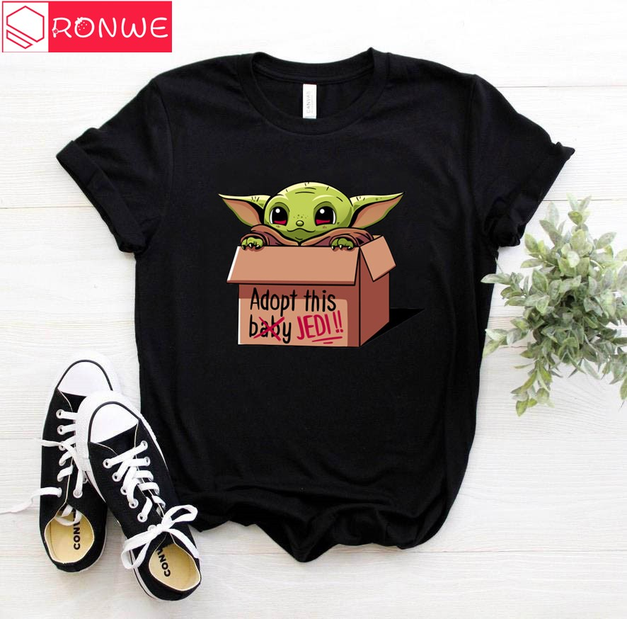 2020 New Women's Fashion The Mandalorian Child Baby Yoda T-Shirt Girl Short Sleeve Tops Hipster Tee Female Clothes