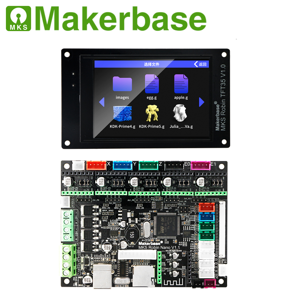 Makerbase MKS Robin Nano 32Bit Control Board 3D Printer Parts Support Marlin2.0  3.5 Tft Touch Screen Wifi Control Preview Gcode