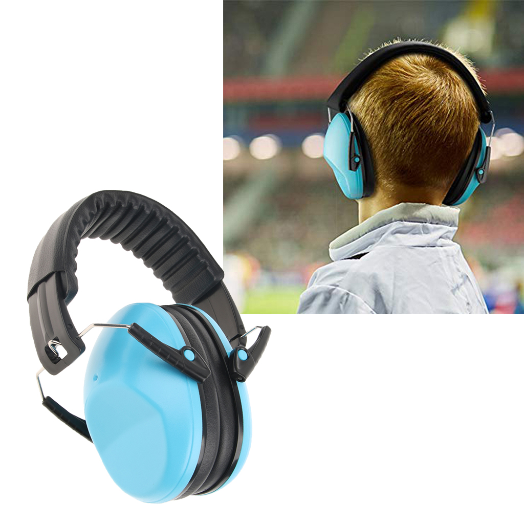 2 Pair Hearing Protection Muffs For Children Foldable Ear Defenders Noise Reduction Earmuffs