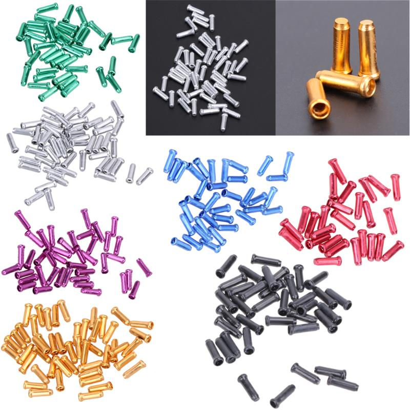 50 Pcs Bicycle Brake Cable End Caps Al Alloy Bike Shifter Inner Cable Tips