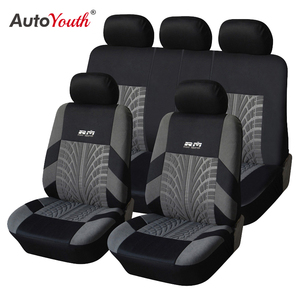 AUTOYOUTH Hot Sale 9PCS and 4PCS Universal Car Seat Cover Fit Most Cars with Tire Track Detail Car Styling Car Seat Protector(China)
