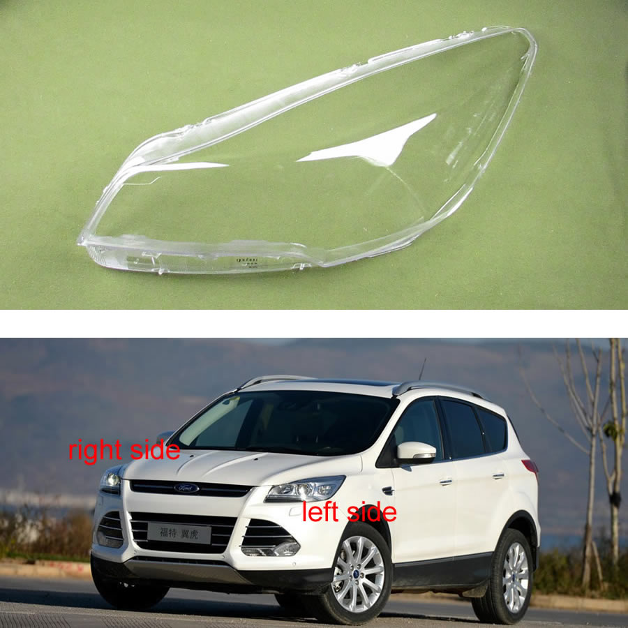 Front Headlamps Cover Glass Transparent Lampshades Cover Headlight Lens Lamp Shell For Ford KUGA / Escape 2013 2014 2015 2016