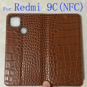 Image 2 - 360 Magnet Natural Genuine Leather Skin Flip Wallet Book Phone Case Cover On For Xiaomi Redmi 9 C 9C NFC Redmi9C 9CNFC 32/64 GB