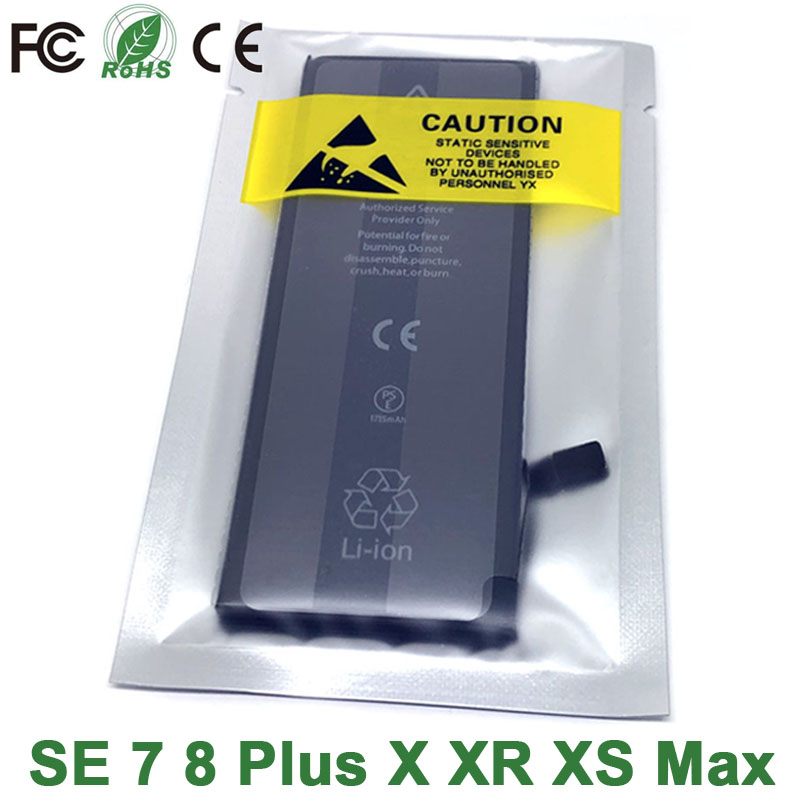 New 0 Cycle Seal Oem High Capacity Mobile Phone Battery Pack For Apple Iphone X XR XS Max 8 7 6S 6 SE 5C 5S 5 4S 4 Plus Battery