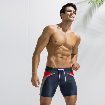 Europe and America Men-Mixed Colors Body Hugging Short Swimming Trunks Fashion Simple Beach Surfing Diving Short Swimming Trunks